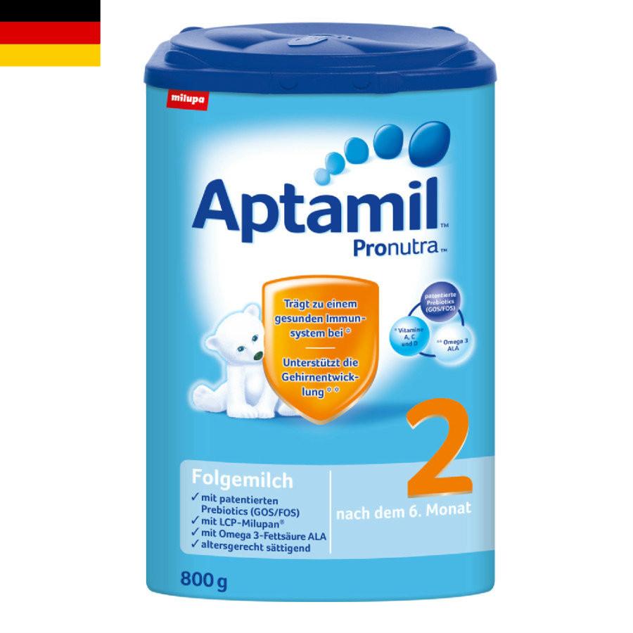 【4罐装】德国原版爱他美Aptamil婴幼儿配方奶粉2段(6-10个月)