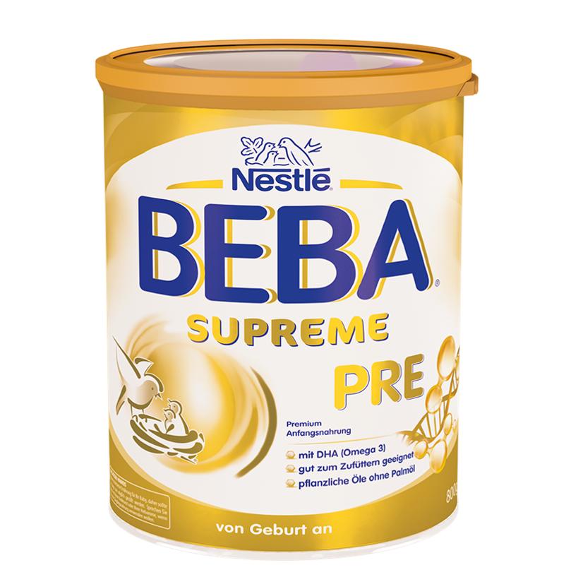 [6罐装]德国原版雀巢BEBASUPREME婴儿成长配方奶粉Pre段