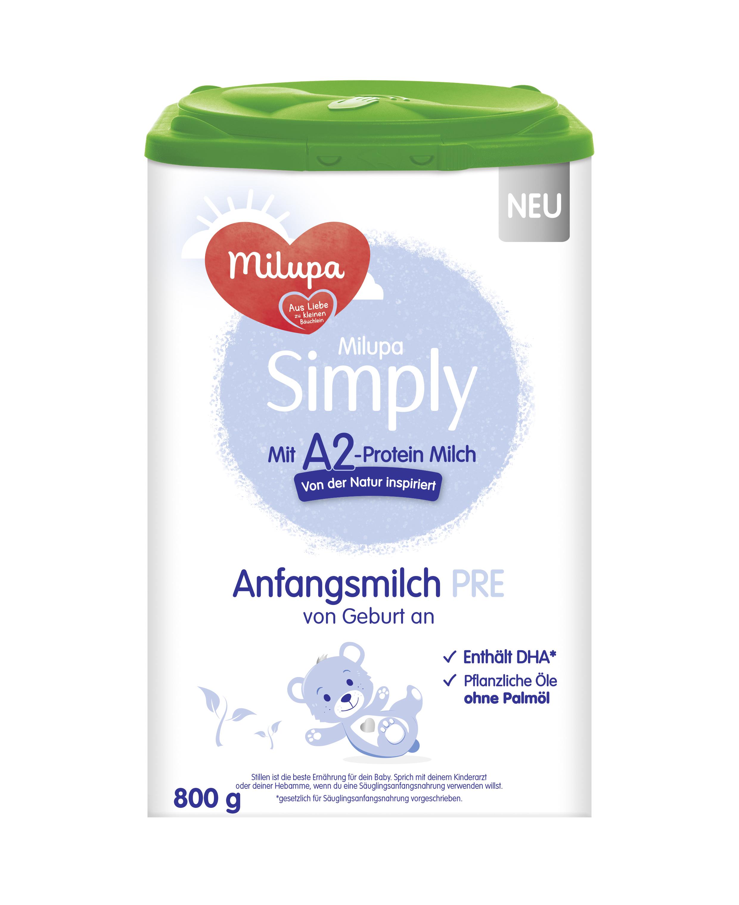 [4罐装]德国Milupa美乐宝Simply婴幼儿配方奶粉Pre段(0-6个月)