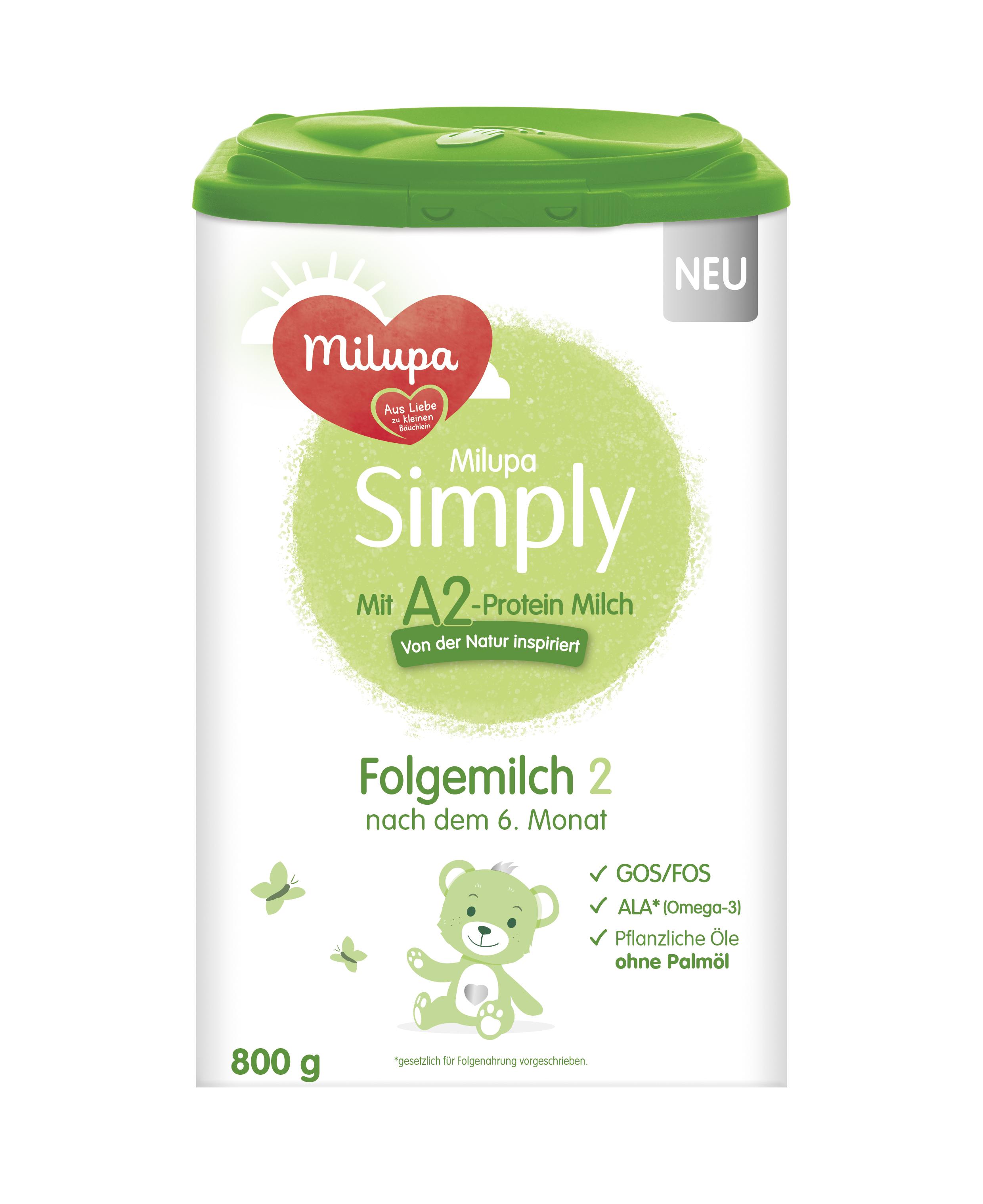 [4罐装]德国Milupa美乐宝Simply婴幼儿配方奶粉2段(6个月以上)
