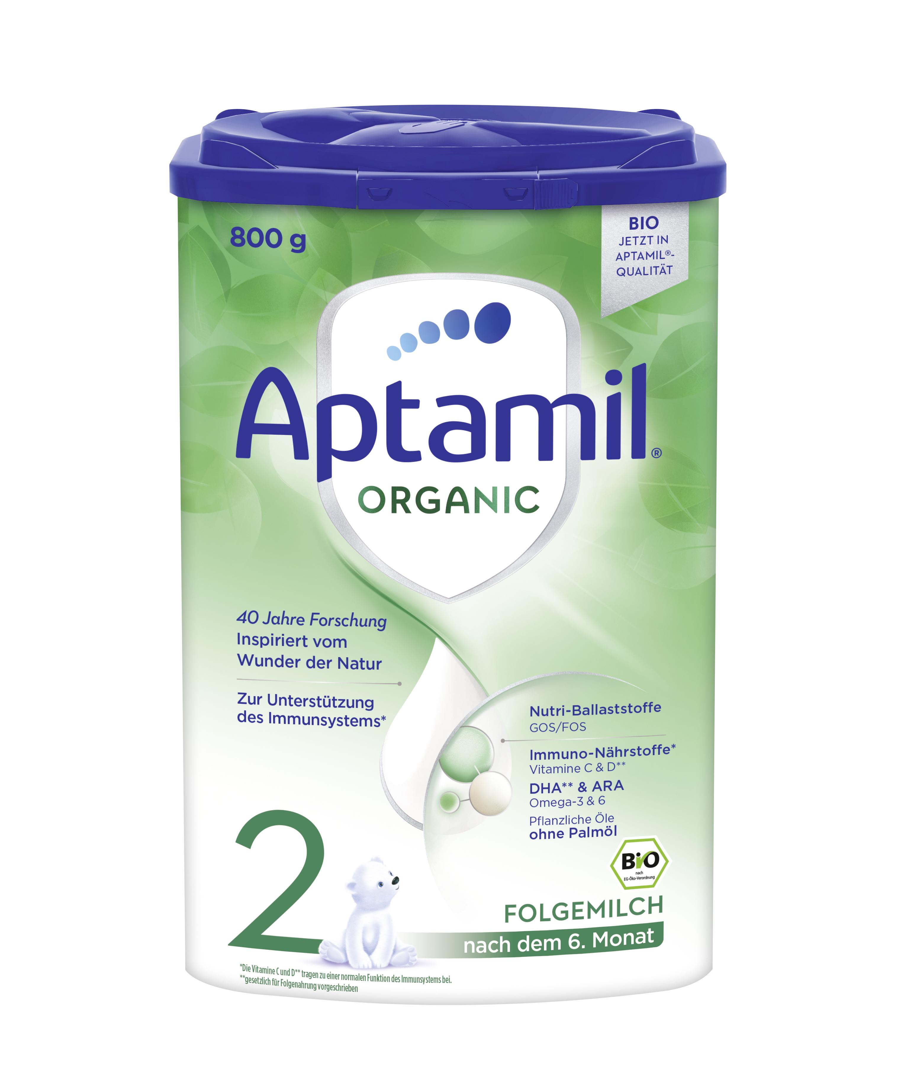 [6罐装]德国爱他美Aptamil婴幼儿配方奶粉有机系列2段(6个月以上)